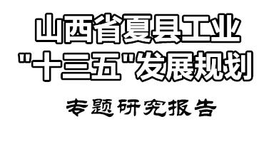 """夏县工业产业""""十三五""""规划"""
